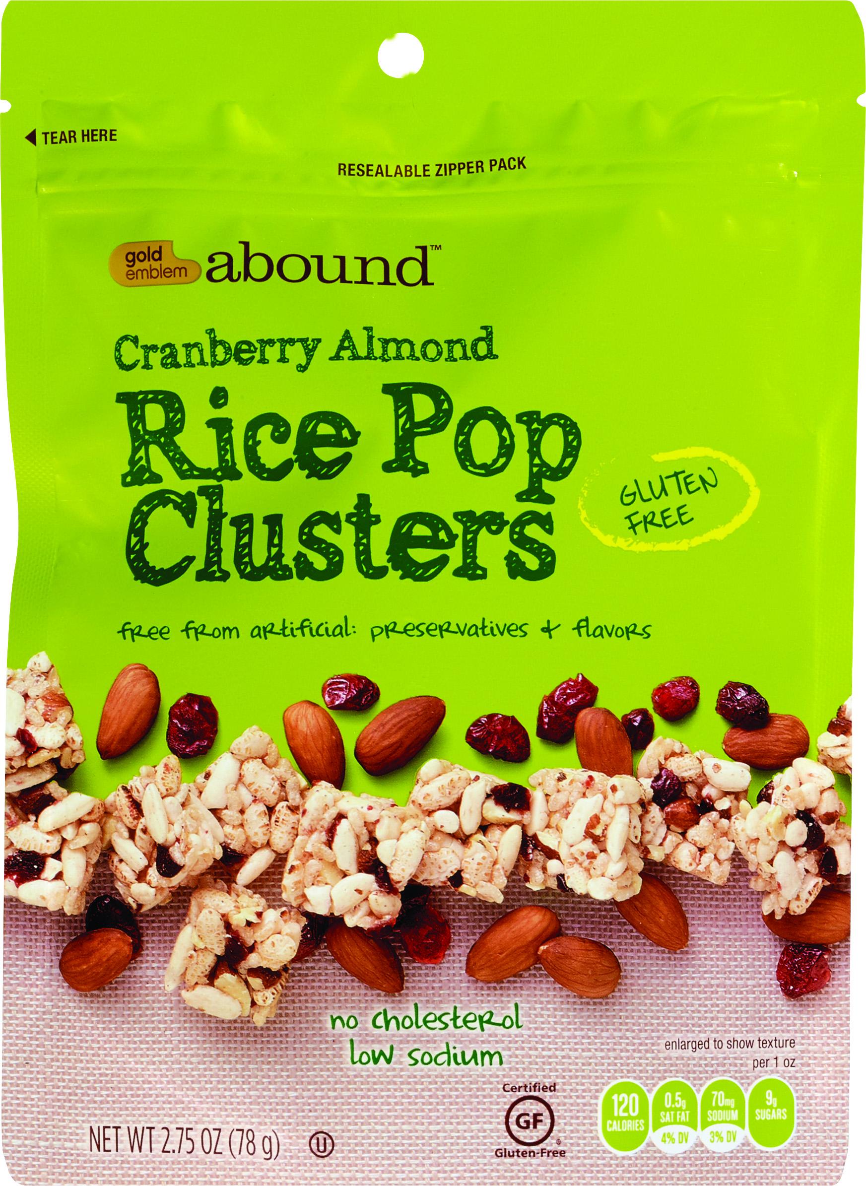 Gold Emblem Abound Cranberry Almond Rice Pop Clusters