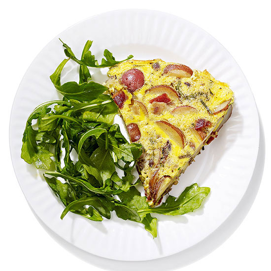 Bacon, Potato and Onion Frittata