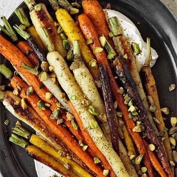 Za'atar-Roasted Carrots with Yogurt