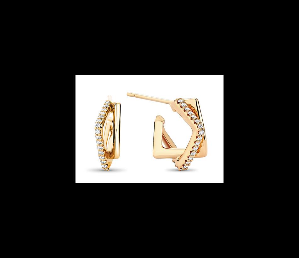 Interlocking Diamond Square Hoops