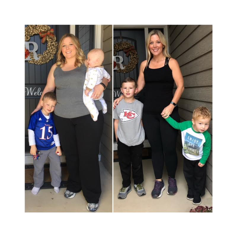 Amy Reinecke Before and After With Kids