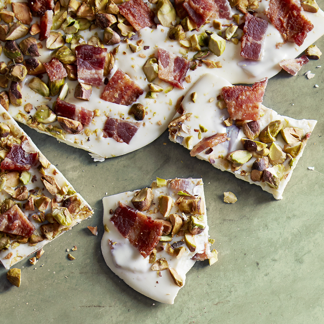 Pistachio-Bacon Bark