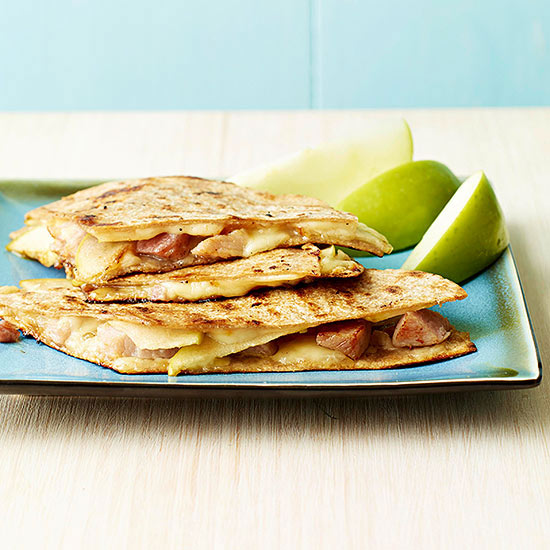 Ham, Swiss and Apple Quesadillas