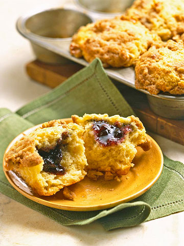 Blueberry Jelly Muffins