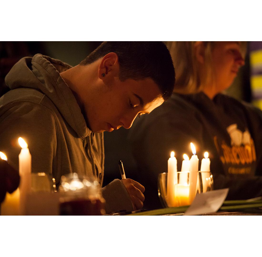 school shooting vigil