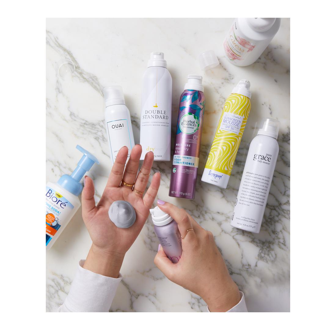 foam beauty products