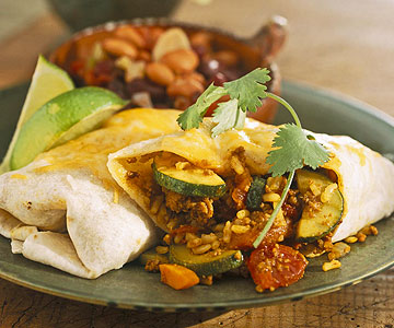 Chicken And Vegetable Burritos