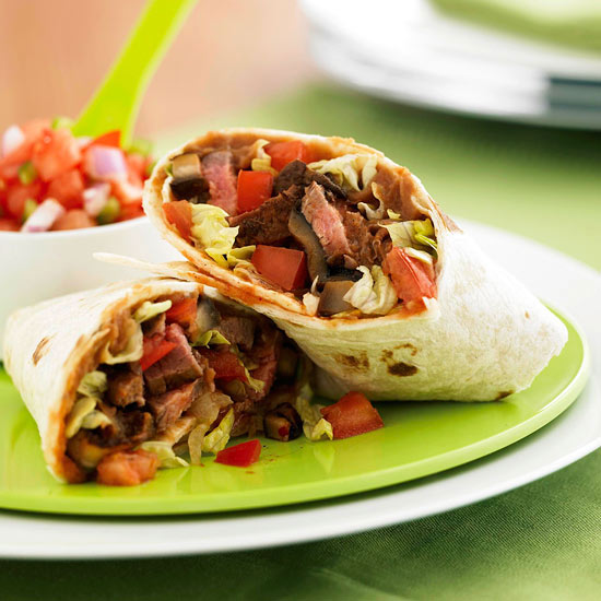 Steak and Mushroom Burrito