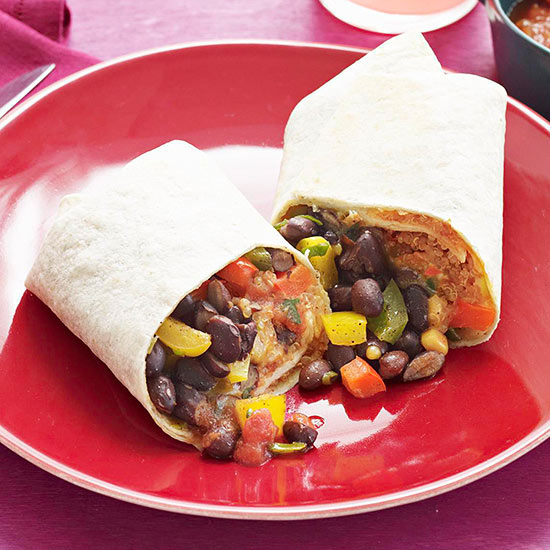 Black Bean and Quinoa Burritos