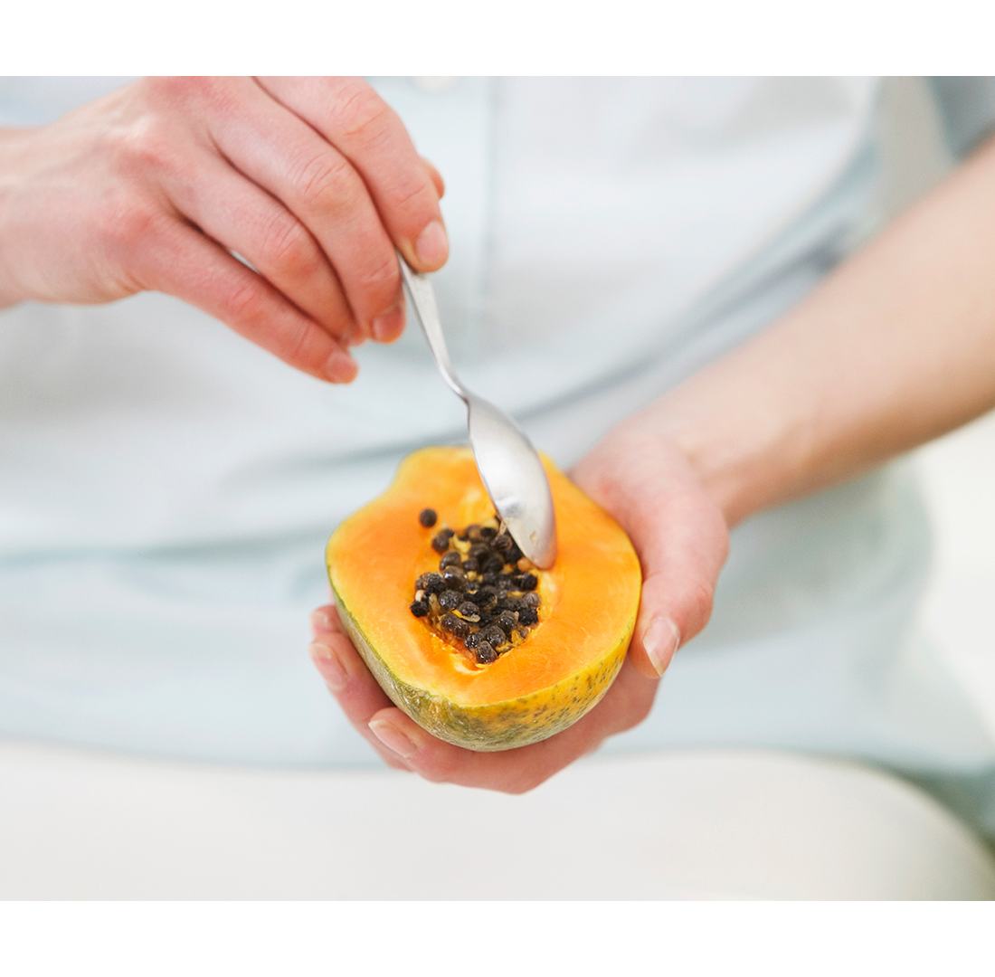 Eat more papaya and ginger.
