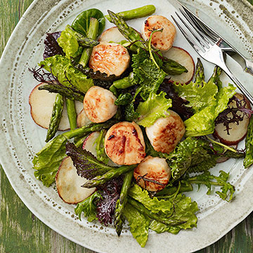 Scallops with Asparagus Salad