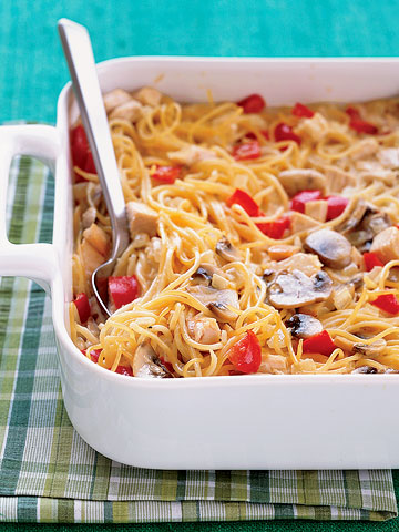 Three-Cheese Chicken Tetrazzini