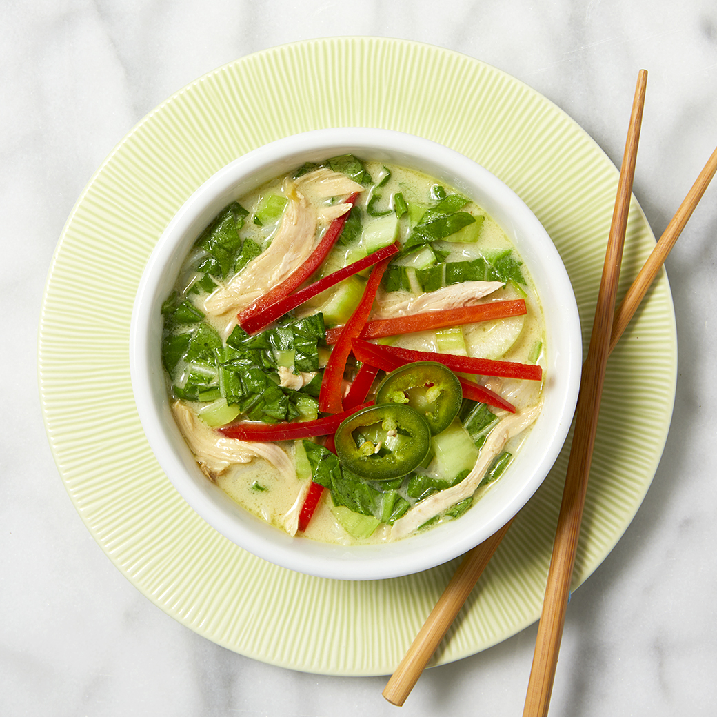 Coconut Ginger Soup with Rice Noodles