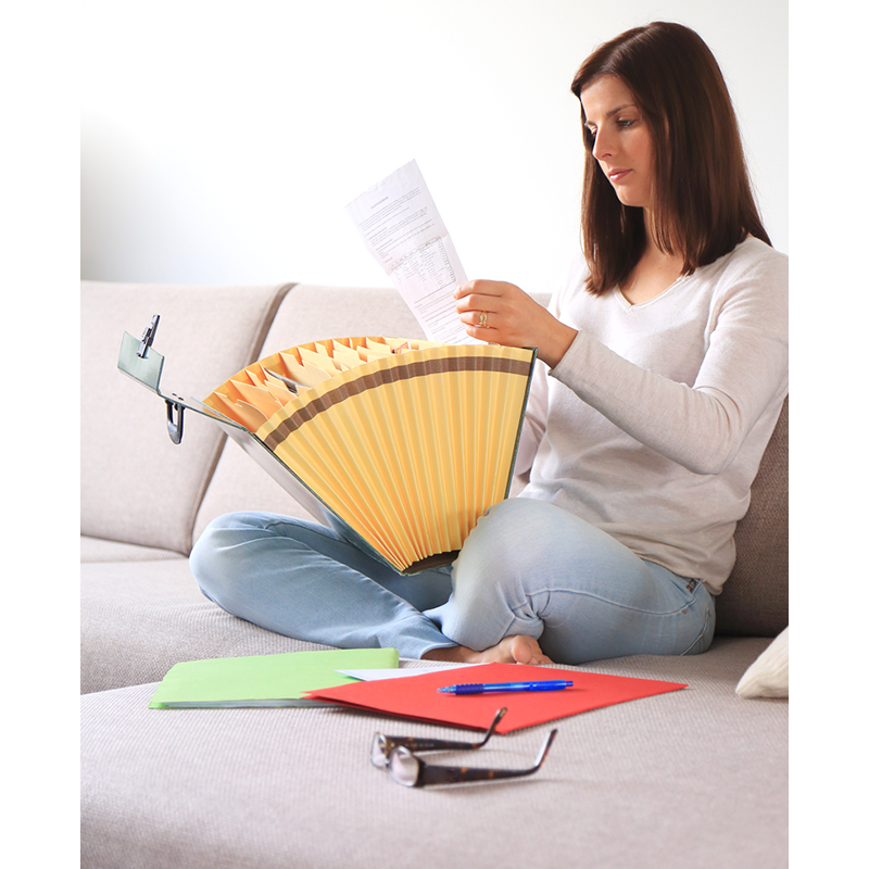 Woman with file folder