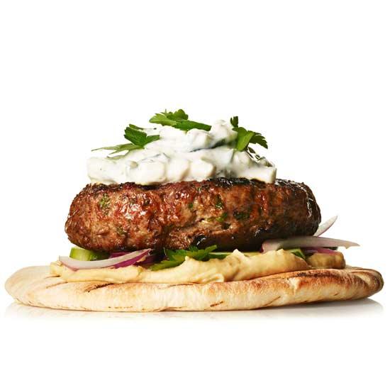 Lamb and Hummus Burger