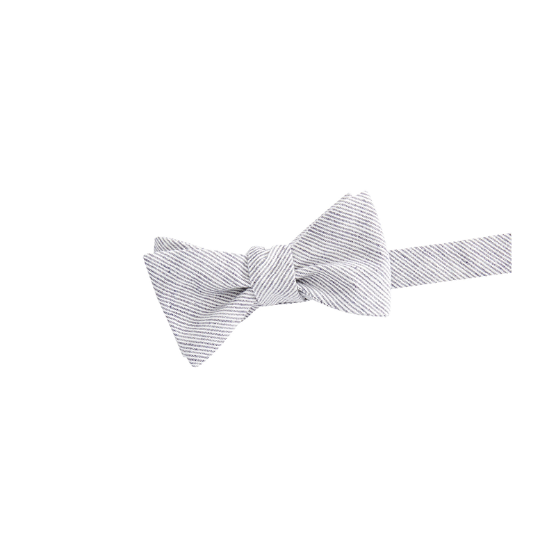 Vineyard vines gray pinstripe bow tie