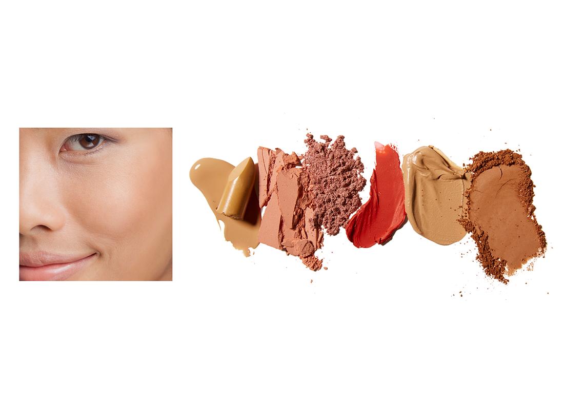 Medium skin tone makeup