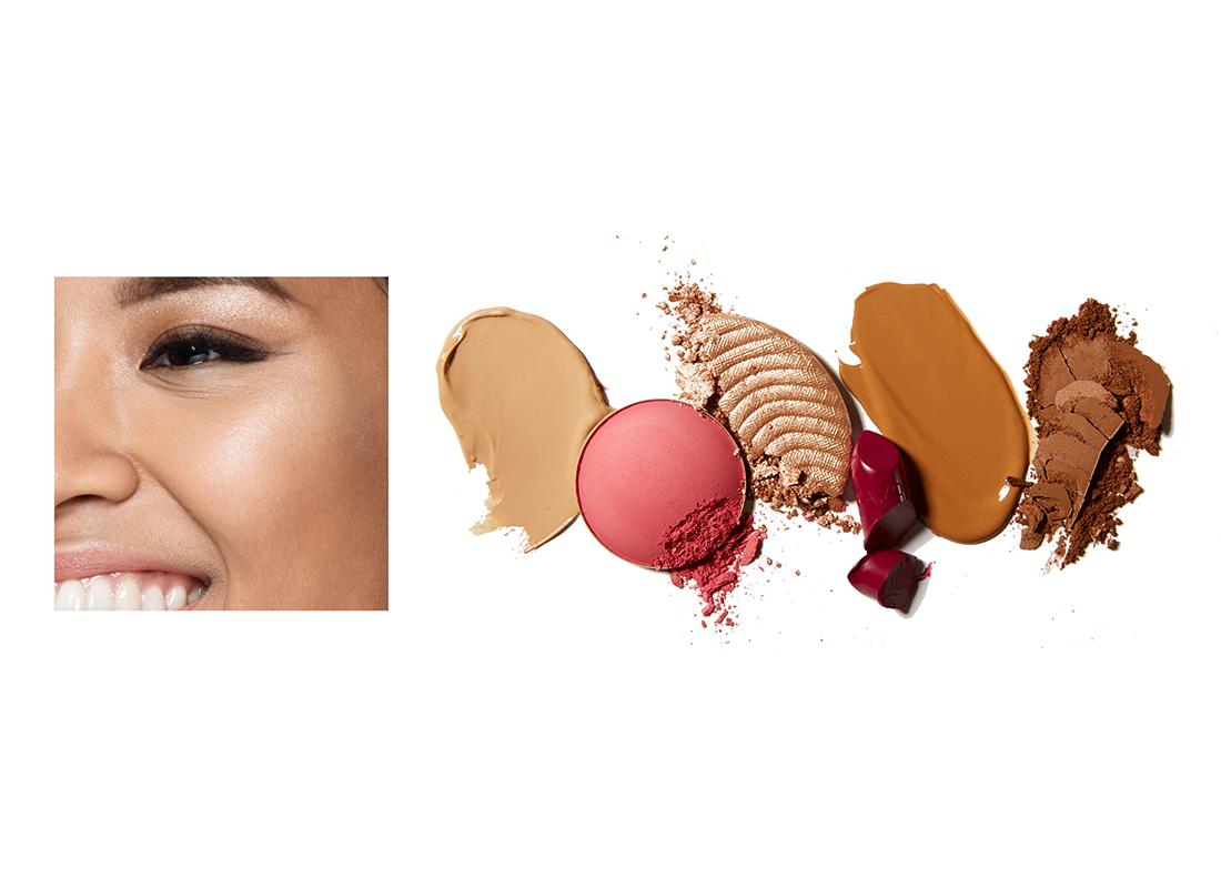 Tan skin tone makeup