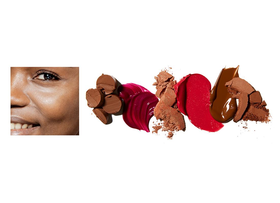 Deep skin tone makeup