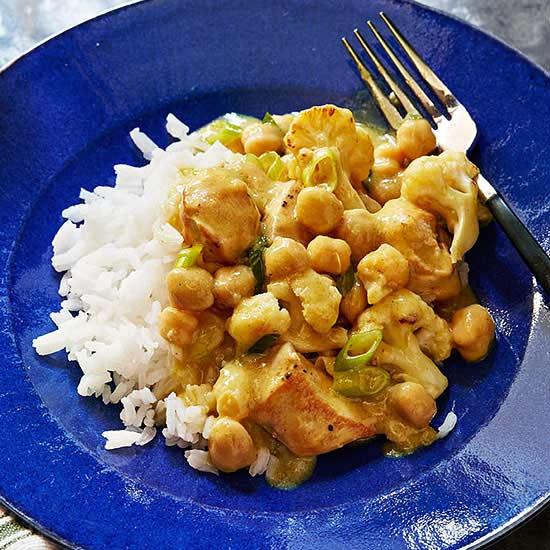 Curried Chicken and Cauliflower
