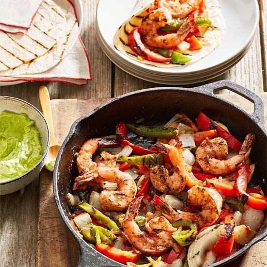 Our Best Chicken, Beef, Shrimp & Veggie Fajitas of All Time