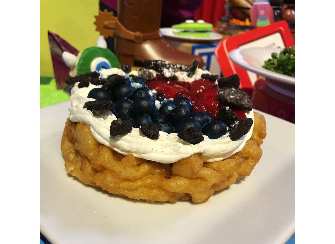 Berry Funnel Cake at disneyland