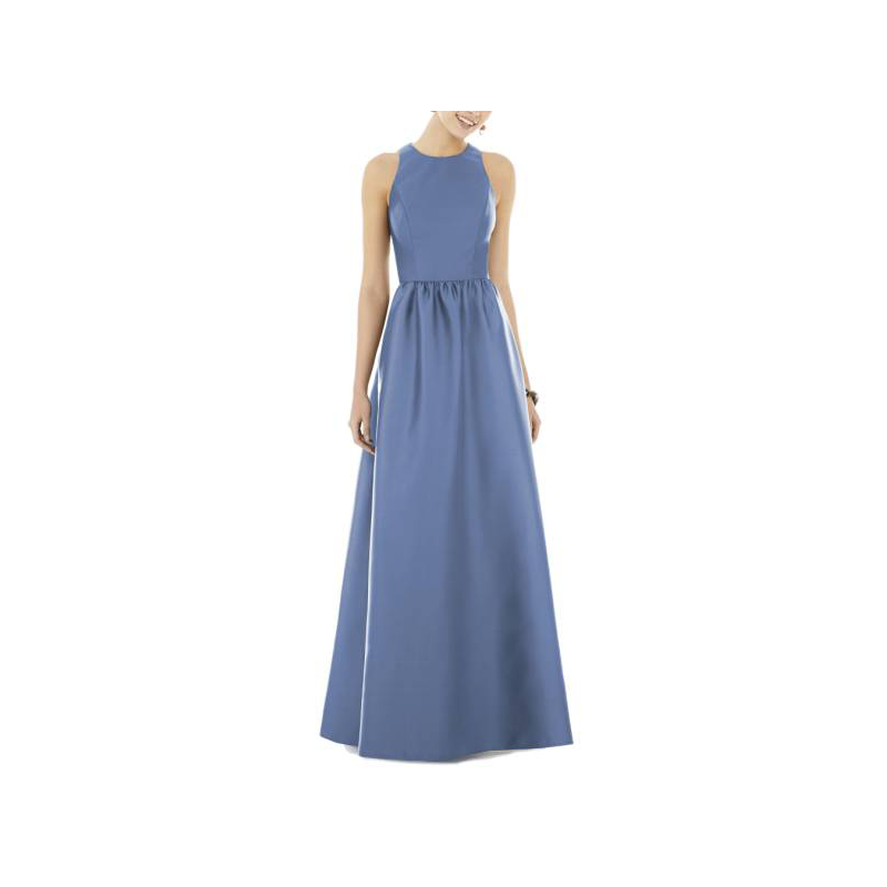 Alfred Sung blue prom gown