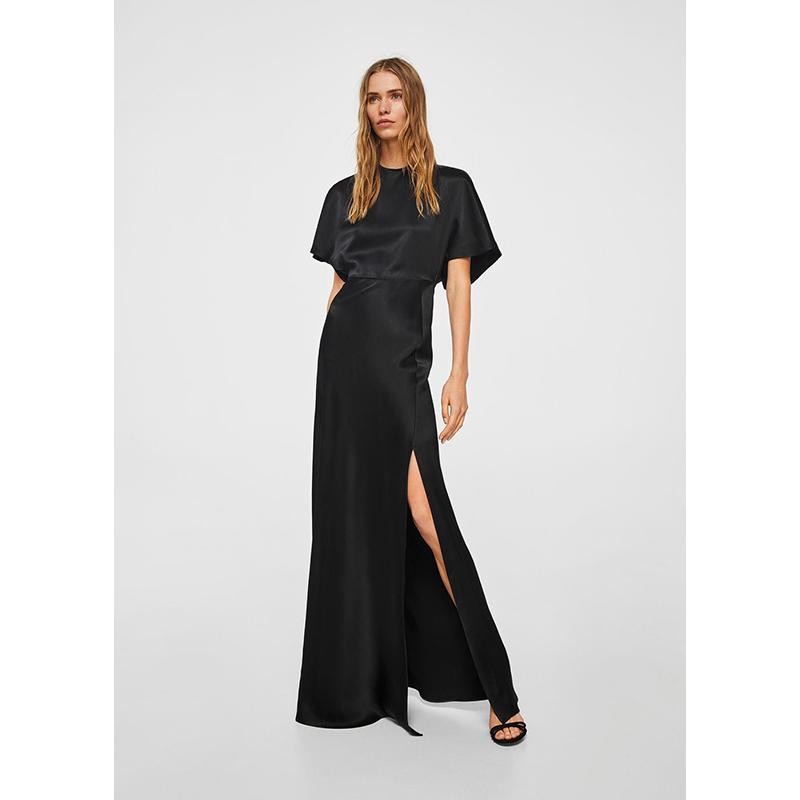 Mango black prom gown