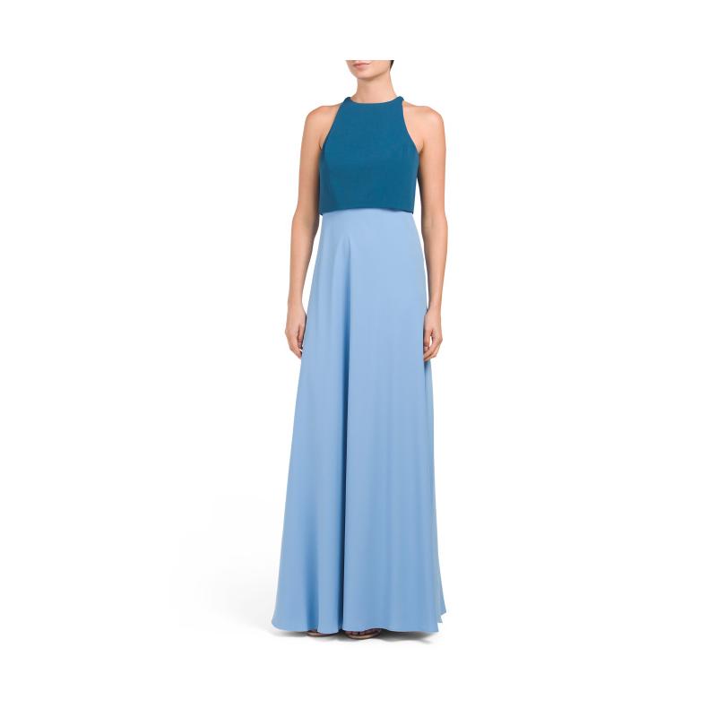 TJ Maxx two tone blue prom gown