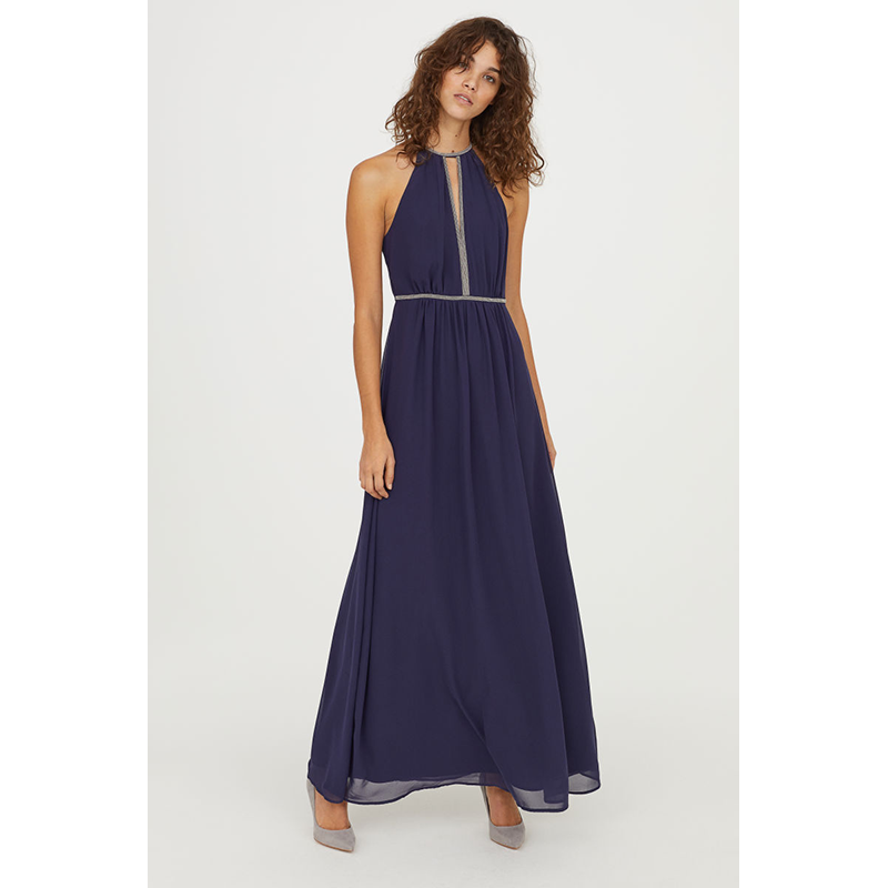 H&M Long Navy Gown
