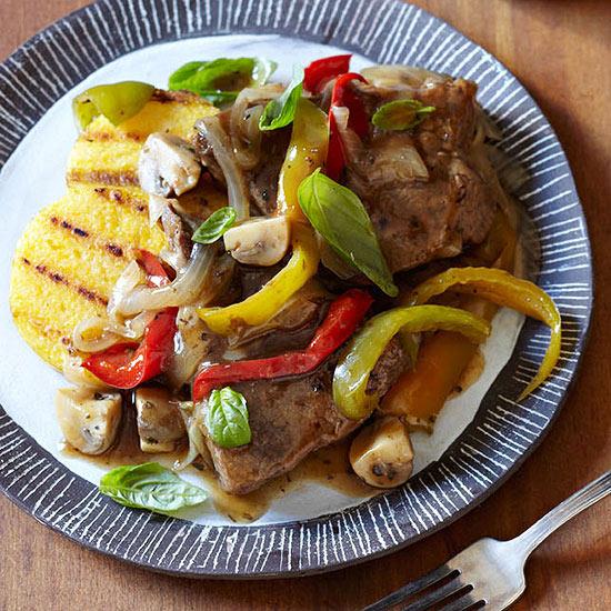 Italian-Style Steak, Mushrooms and Onions
