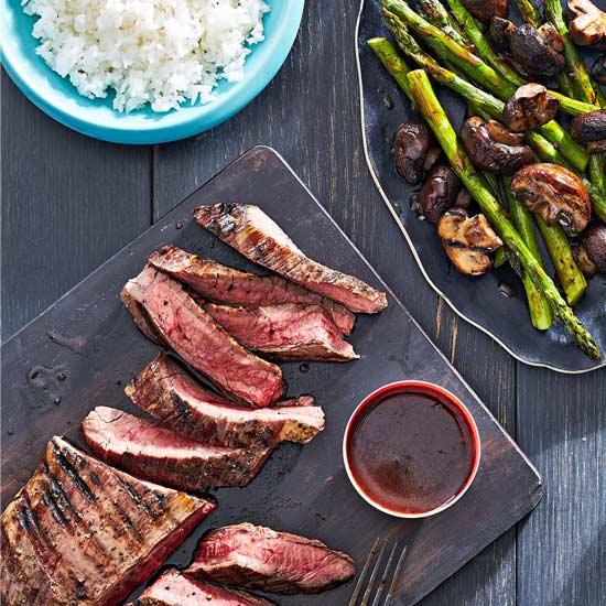 Teriyaki Flank Steak and Vegetables