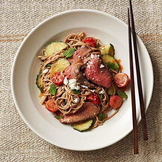 Sesame Soba and Steak