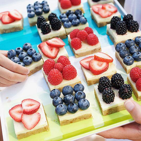 Berry Margarita Cheesecake Squares