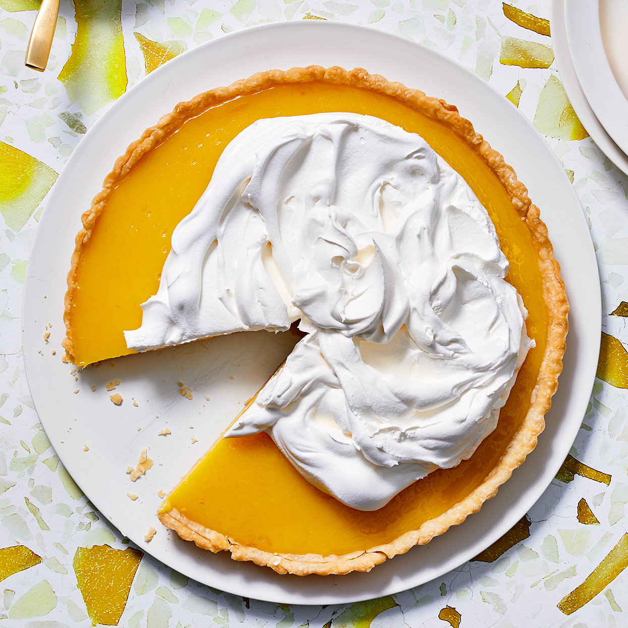 lemon tart with whipped cream