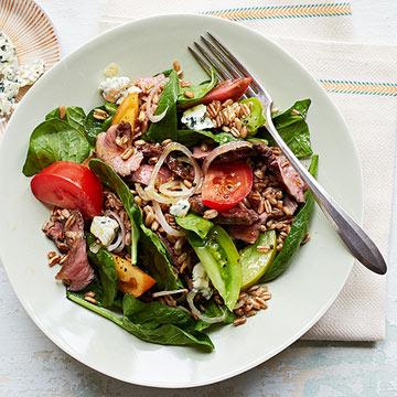 Farro Steak Salad