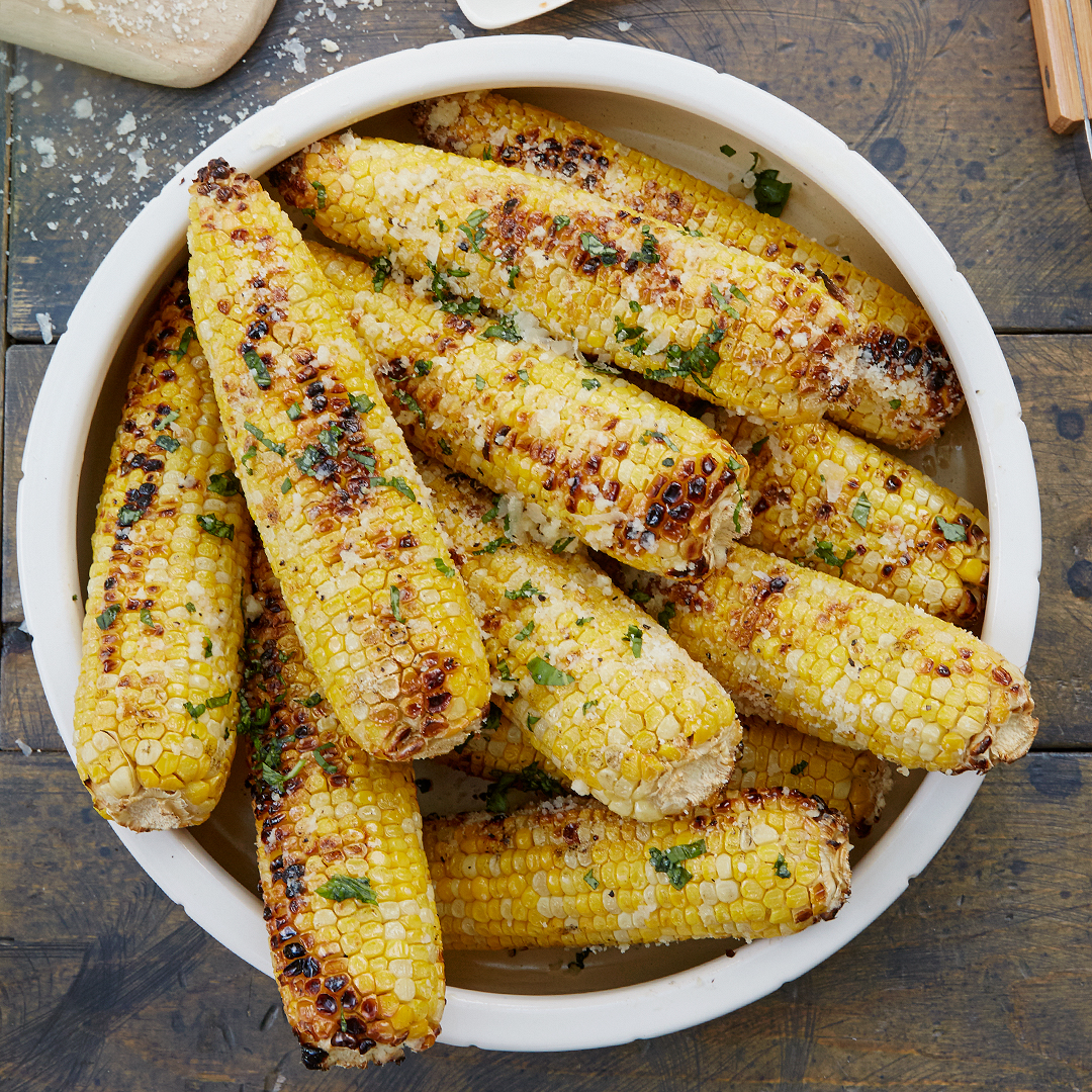 Corn on the Cob with Basil-Parmesan Butter