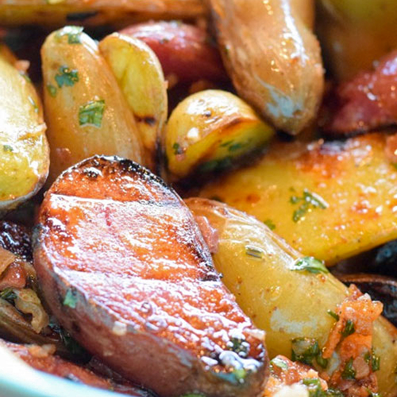 Melissa Cookston's Grilled Fingerling Potato Salad with Bacon-Cilantro Vinaigrette