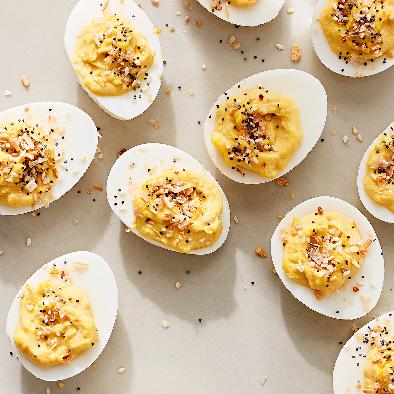 """Everything"" Deviled Eggs"