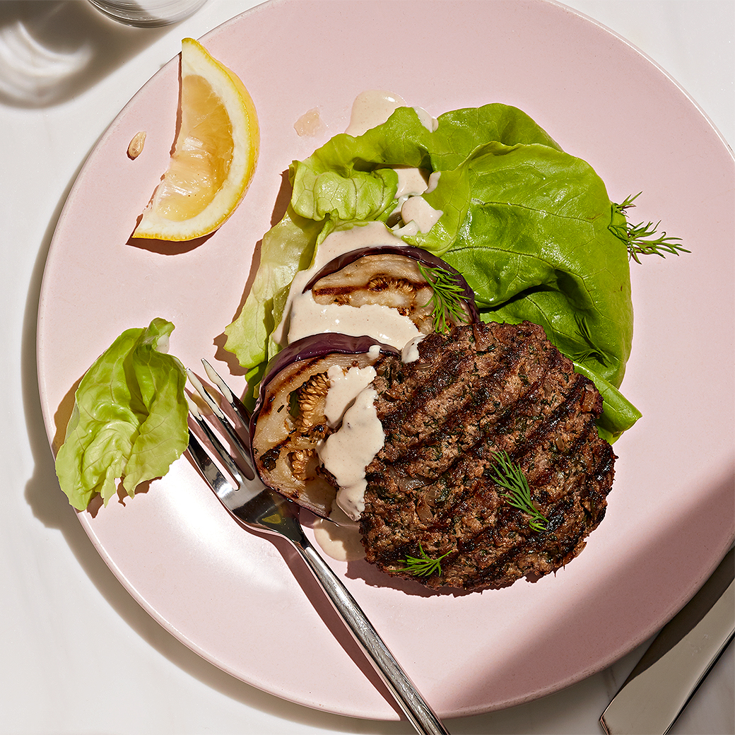 greek herb burger sans bun