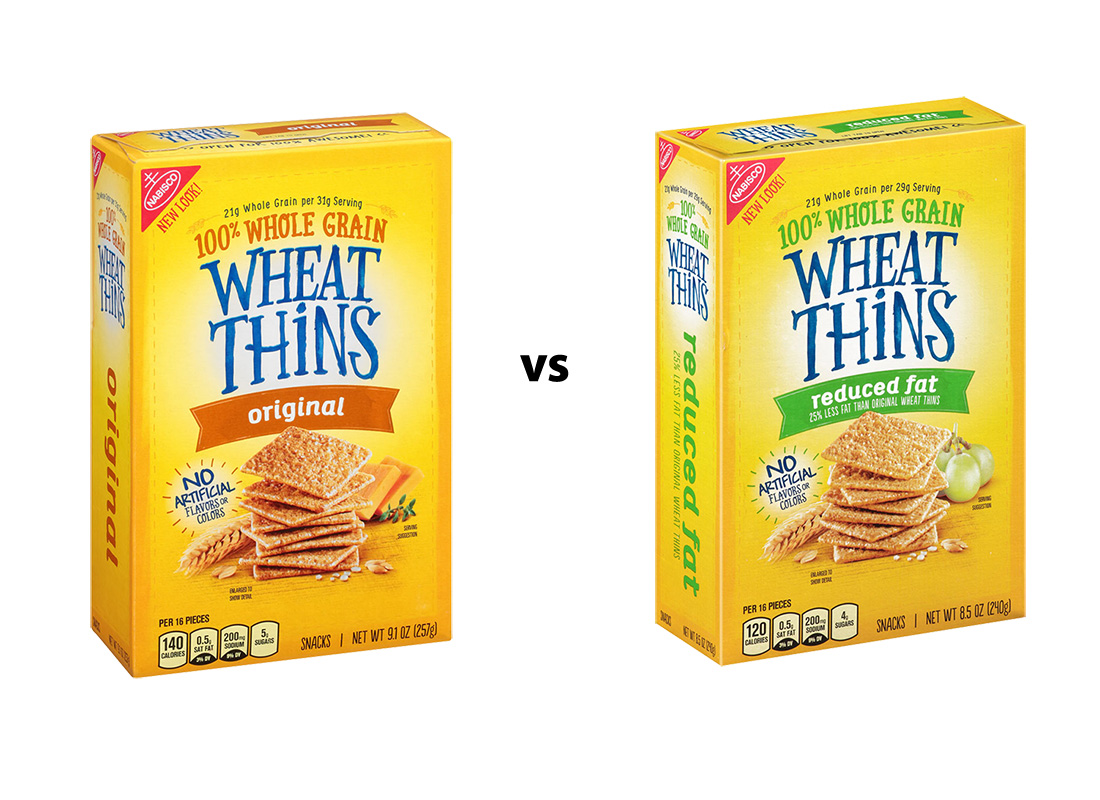Wheat Thins Original and 25% Reduced Fat