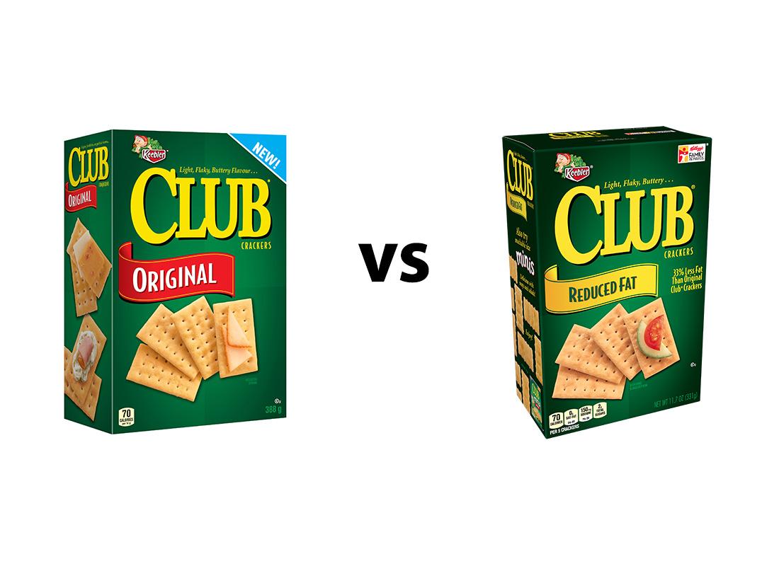 Keebler Club Original and 33% Reduced Fat