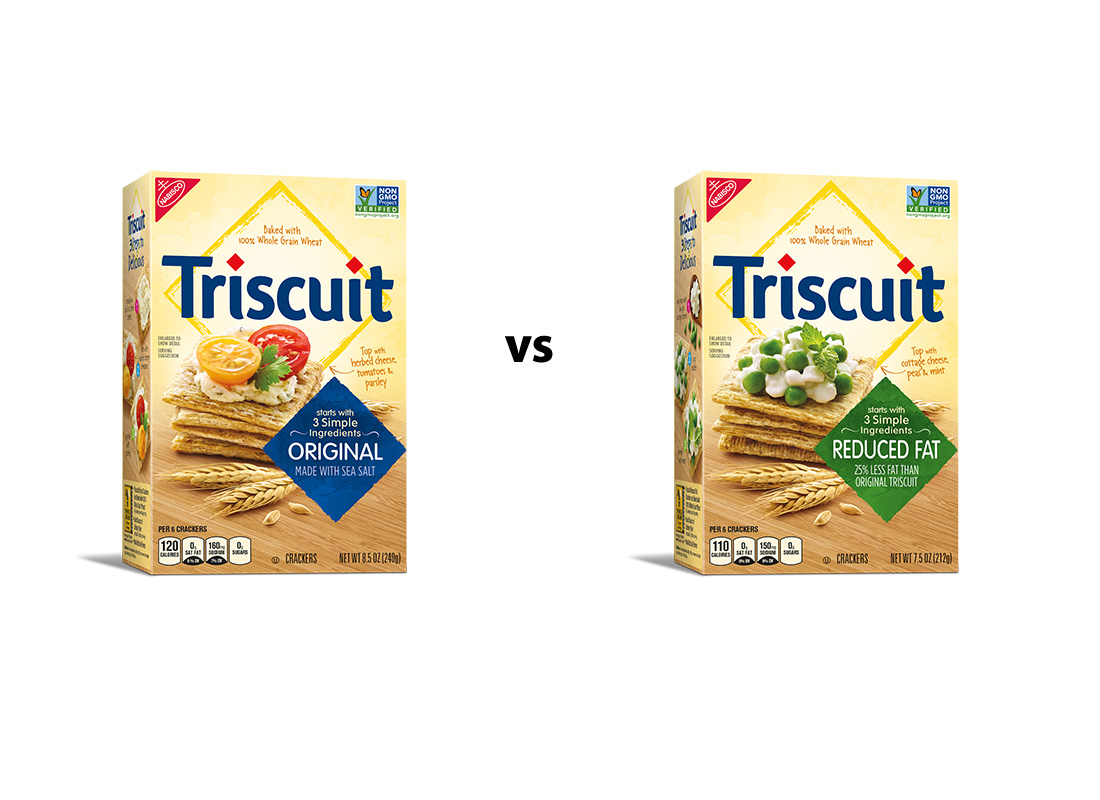 Triscuit Original and 25% Reduced Fat