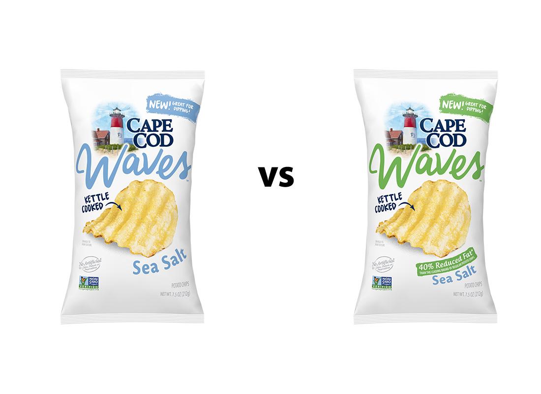 Cape Cod Waves Original v. 40% Reduced Fat