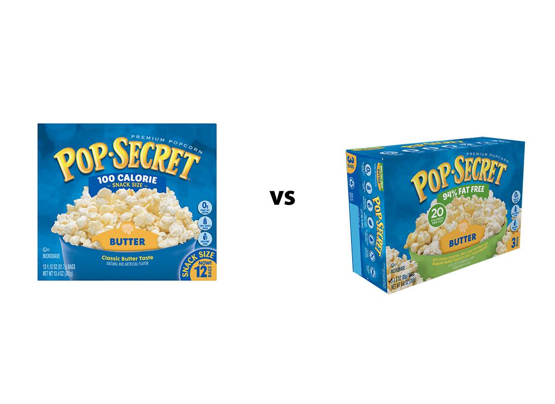 Pop Secret Butter Original v. 94% Reduced Fat