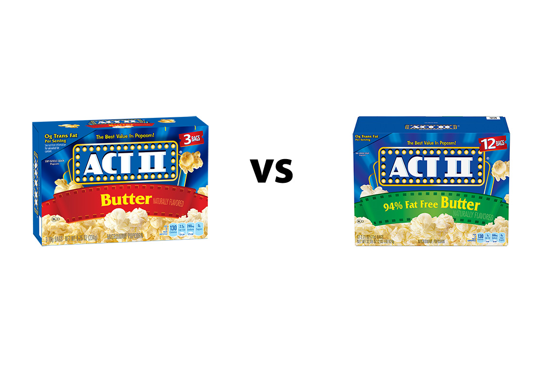 Act II Butter Original v. 94% Reduced Fat