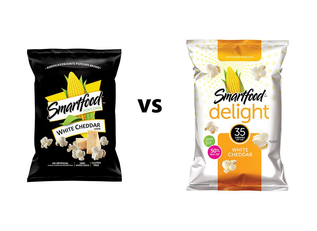 Smartfood Original v. 50% Reduced Fat