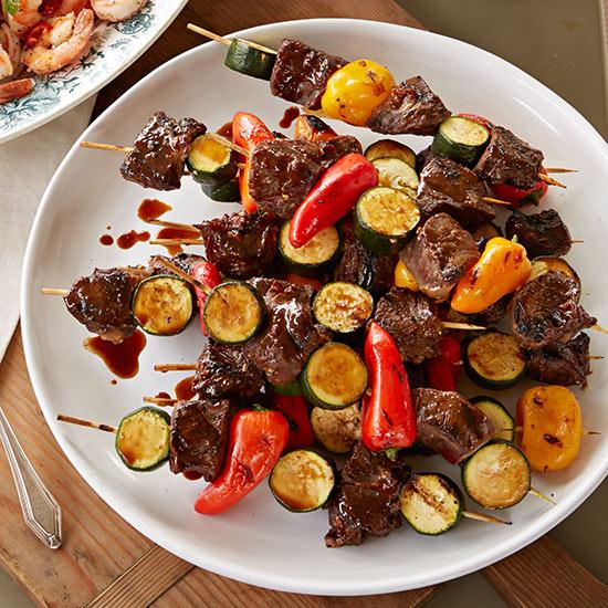 Beef and Veggie Skewers