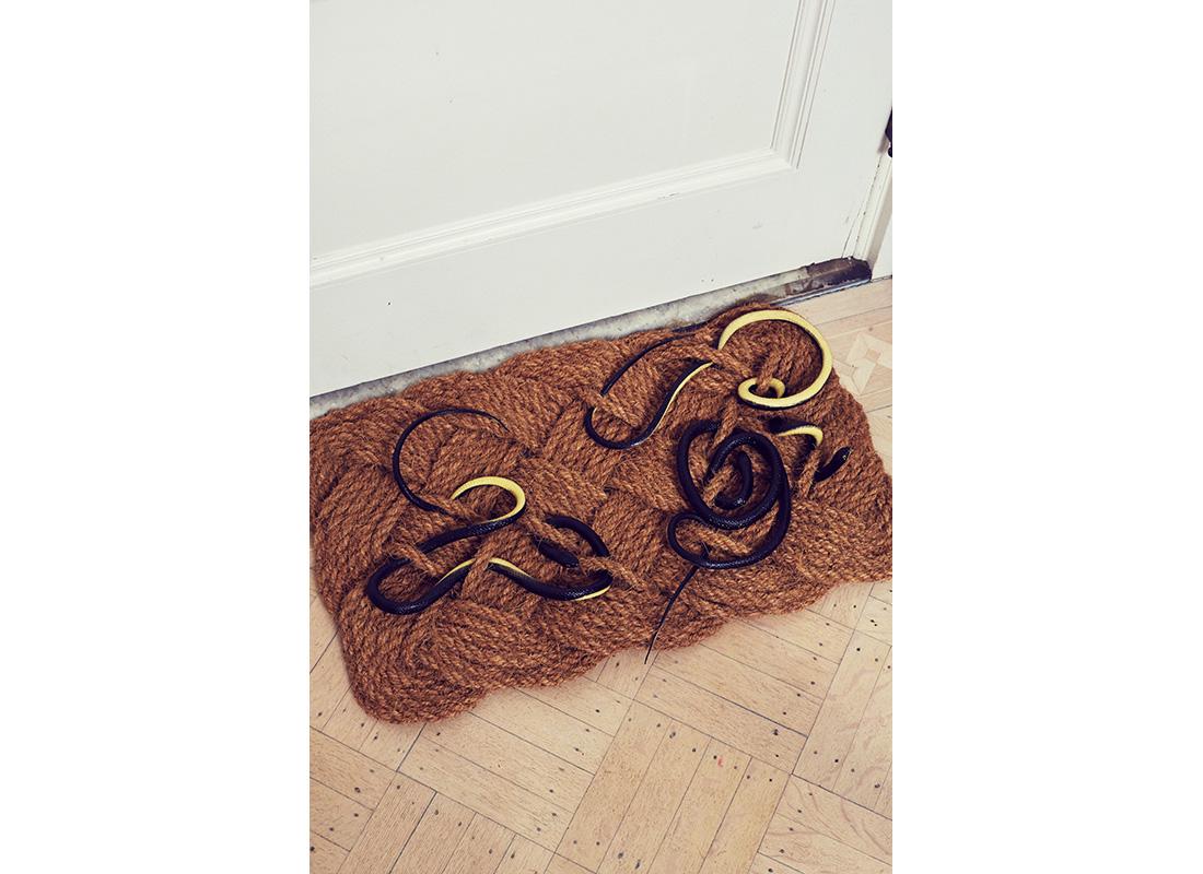 snake doormat for halloween