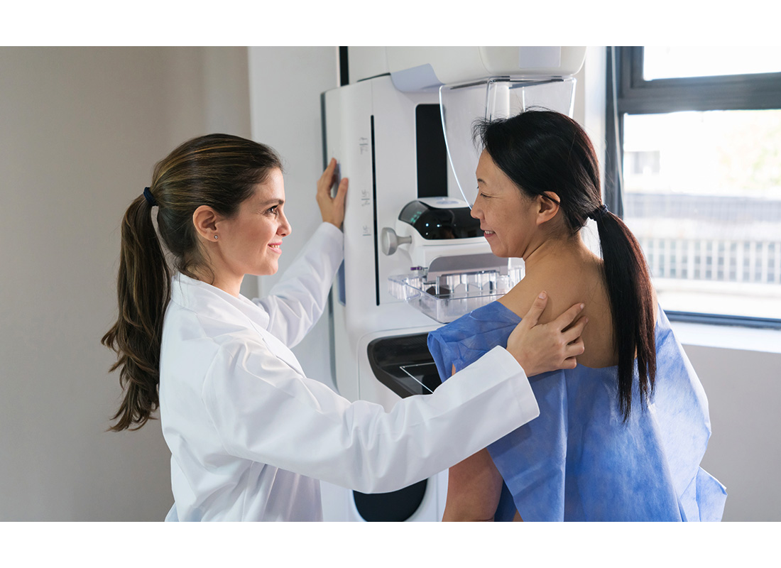 gyno and patient at mammogram